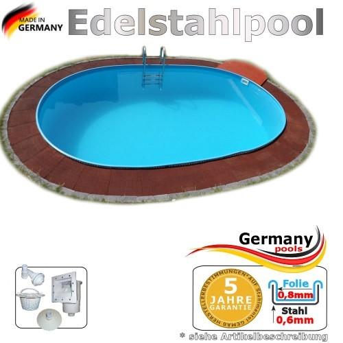 Edelstahlpool 550 x 360 x 125 cm