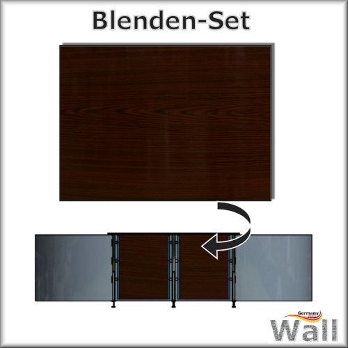 Germany-Pools Wall Blende A Tiefe 1,20 m Edition Dark-Wood