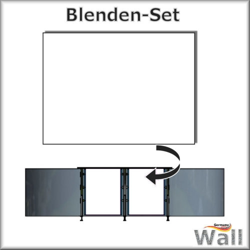 Germany-Pools Wall Blende A Tiefe 1,25 m Edition Omega Alu
