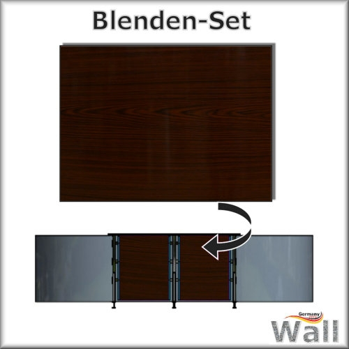 Germany-Pools Wall Blende C Tiefe 1,20 m Edition Dark-Wood