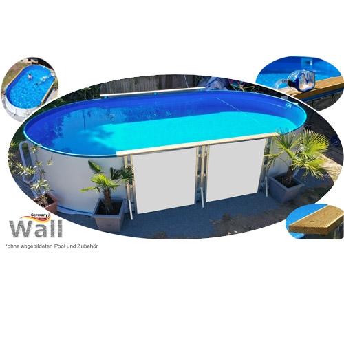 Ovalpool freistehend 4,90 x 3,00 m Germany-Pools Wall
