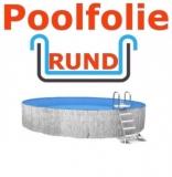 3,50 x 1,50 m x 1,0 mm Poolfolie rund mit Einhängebiese