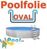 600x320x135 cm x 0,8 Poolfolie mit Keilbiese Ovalpool