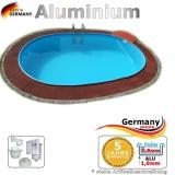 Aluminium Pool 7,37 x 3,60 x 1,50 m Alu Einbaupool