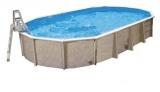 Aufstellbecken 12,5 x 6,4 x 1,32 m oval Center Pool freistehend Set