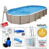Aufstellbecken 6,1 x 3,6 x 1,32 m oval Center Pool freistehend Set