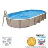 Aufstellpool 6,1 x 3,6 x 1,32 m Center Pool oval freistehend