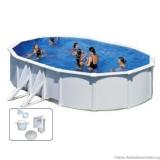 Einbaupool 6,1 x 3,75 x 1,2 m Breiter Handlauf Pool Set