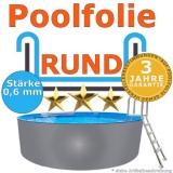 Ersatzfolie rund 360 x 90 cm x 0,6 Poolfolie Innenfolie Pool