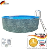 Gartenpool 6,4 x 1,2 Stone Pool Stein Optik