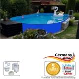 Ovalpool Blau 800 x 400 x 125 cm