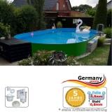 Ovalpool Grün 740 x 350 x 125 cm