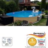 Ovalpool Holz Design 450 x 300 x 120 cm
