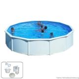Pool 4,60 x 1,20 m STARK1 Plus Breiter Handlauf
