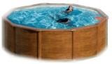 Pool Holz 460 x 120 Holzpool Holz Optik Set