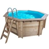 Pool Holz 6,55 x 1,33 m Holzbecken