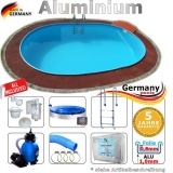 Pool Komplettset 7,4 x 3,5 x 1,50 m Swimmingpool Alu