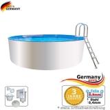 Poolbecken 4,0 x 0,9 m Weiss