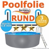 Poolfolie 4,5 x 1,2 m x 0,8 rund bis 1,5 m