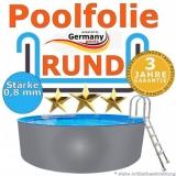 Poolfolie 6,4 x 1,2 m x 0,8 rund bis 1,5 m