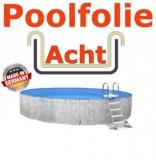 Poolfolie acht 7,25 x 4,60 x 1,20 m x 0,8 Folie Ersatz Sand