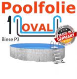 Poolfolie oval 7,00 x 3,50 x 1,50 x 1,0 Folie Ersatz Ovalbecken
