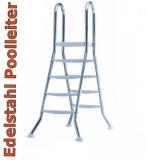 Poolleiter Edelstahl 1,3 1,35 Hochbeckenleiter Schwimmbadleiter