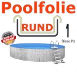 Schwimmbadfolie 450 x 150 cm x 0,8 Keilbiese Sand