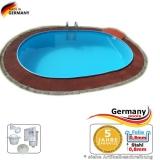 Schwimmbecken 7,37 x 3,6 x 1,35 m