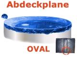Ovalbecken Elfenbein 4,5 x 3,0 x 1,25 m Komplettset