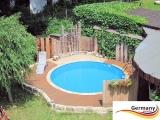 Schwimmingpool 350 x 120 cm Poolset Pool Komplettset Brick