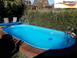 Ovalbecken Blau 6,15 x 3,0 x 1,25 m Komplettset