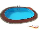 Ovalpool Elfenbein 630 x 360 x 125 cm