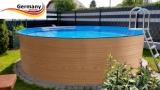 Holzpool 500 x 120 cm Set
