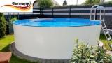 Poolbecken 3,0 x 0,9 m Weiss