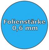 Poolfolie acht 5,25 x 3,20 x 1,35 m x 0,6 Achtformpool