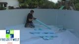 7,0 x 4,0 Pool Hohlkehle bis 7,3 x 4,6 m Ovalpool