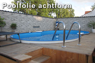 Poolfolie achtform