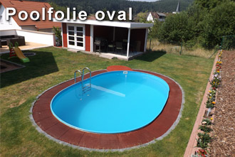 Poolfolie oval